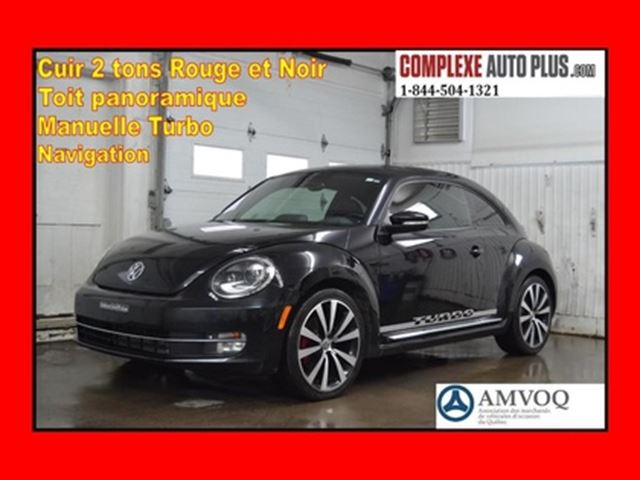 2013 VOLKSWAGEN NEW BEETLE  Coupe SUPER 2.0T Turbo *Navi,Cuir rouge WOW! in Saint-Jerome, Quebec
