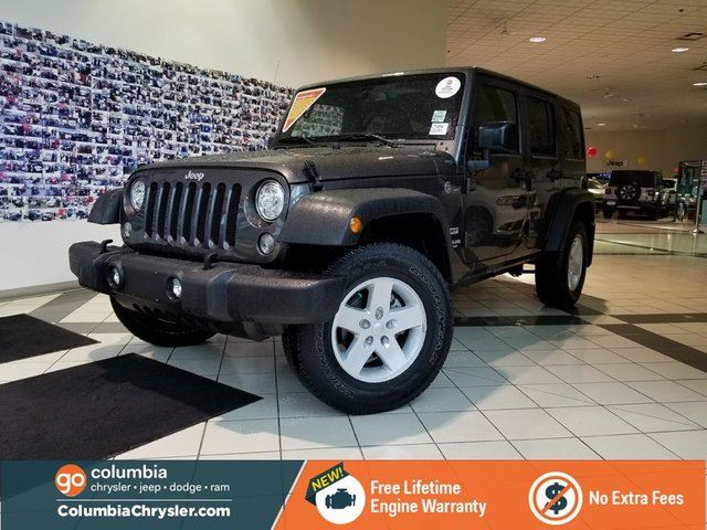 2017 JEEP WRANGLER Unlimited SPORT S, LOW MILEAGE, GREAT CONDITION, FREE LIFETIME ENGINE WARRANTY! in Richmond, British Columbia