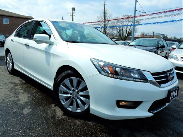 2014 Honda Accord EX-L  LEATHER.ROOF  REVERSE.BLIND SPOT CAMERA in Kitchener, Ontario