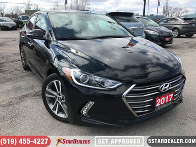 2017 HYUNDAI ELANTRA Limited   LEATHER   NAV   ROOF   CAM in London, Ontario