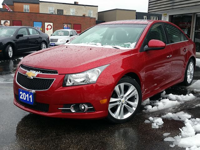 2011 Chevrolet Cruze LTZ Turbo ,RS PACKAGE,HEATED LEATHER,SUNROOF,POWER SEAT,REMOTE START,18 '' MICHELINS,new car trade in Dunnville, Ontario