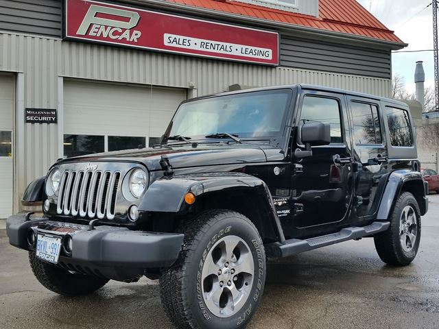 2018 JEEP WRANGLER Unlimited Sahara 4x4 Hardtop Convertible  * Available May 2018 * Previous Daily Rental   in Brantford, Ontario