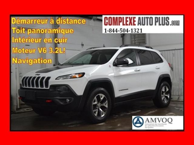 2014 JEEP CHEROKEE Trailhawk V6 4x4 AWD *Navi/GPS,Cuir,Toit pano. in Saint-Jerome, Quebec