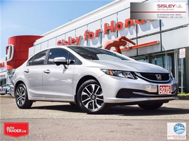 2015 HONDA Civic EX - No Accident, Excellent Condition in Thornhill, Ontario