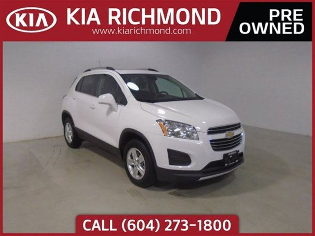 2016 CHEVROLET TRAX LT All Wheel Drive Rearview Camera Cruise Co in Richmond, British Columbia