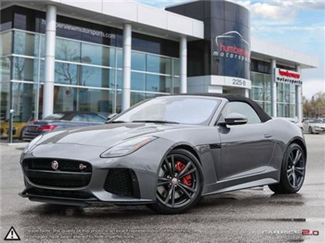 2018 JAGUAR F-TYPE SVR AWD   5.0L V8   CAR-PROOF CLEAN   CANADIAN VEH in Mississauga, Ontario
