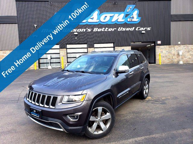 2016 JEEP GRAND CHEROKEE LIMITED 4X4 V6   LEATHER   SUNROOF   8.4 SCREEN   HEATED STEERING + SEATS   REMOTE START in Guelph, Ontario