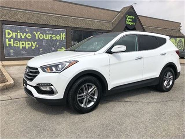 2018 HYUNDAI SANTA FE SE / LEATHER / DUAL MOONROOF / AWD in Fonthill, Ontario