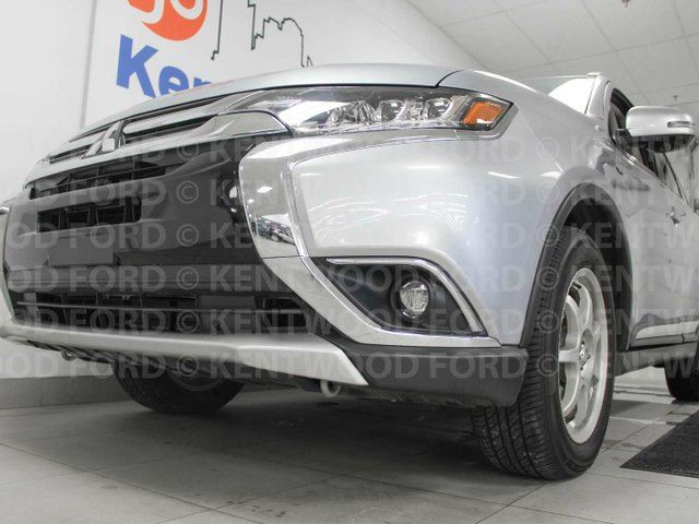 2017 MITSUBISHI OUTLANDER GT V6 AWC with heated power leather seats and steering wheel, sunroof, and power liftgate in Edmonton, Alberta