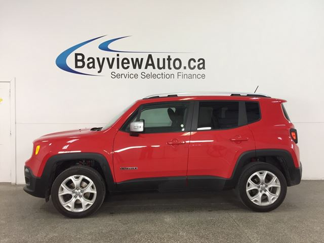 2017 JEEP RENEGADE Limited - REM START! SUNROOF! DUAL CLIMATE! NAV! UCONNECT! in Belleville, Ontario