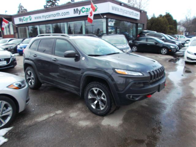 2015 JEEP CHEROKEE Trailhawk LEATHER, SUNROOF, V6 in North Bay, Ontario