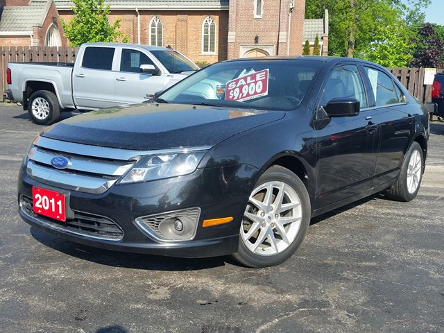 2011 Ford Fusion SEL,3.0 LTR,V6,POWER SEAT,ALLOYS,NEW CAR TRADE in Dunnville, Ontario