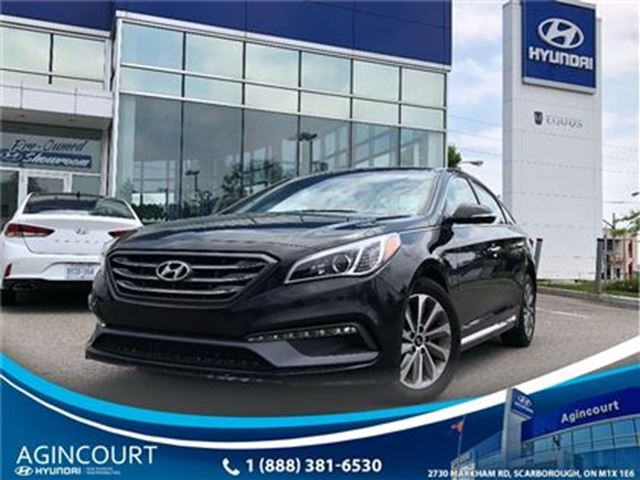 2015 HYUNDAI Sonata Sport/LEATHER/PANO ROOF/BCAM/15572KMS in Toronto, Ontario