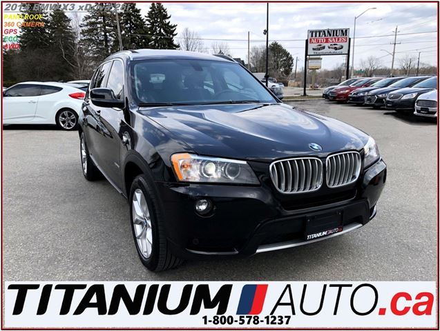 2014 BMW X3 xDrive+360 Camera+GPS+Pano Roof+Park Sensors F & R in London, Ontario
