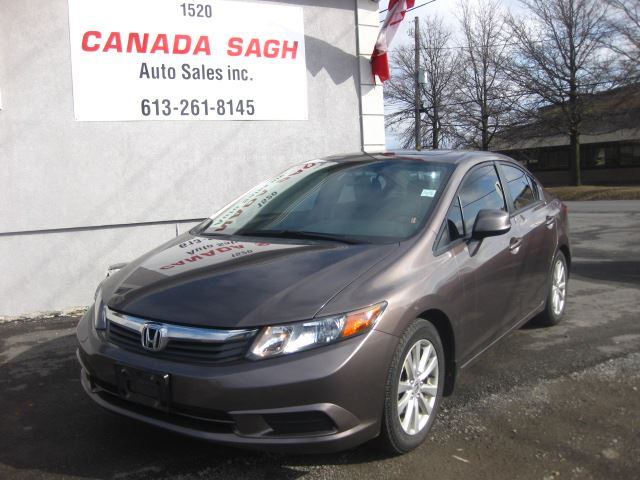 2012 HONDA Civic AUTO,ROOF,RIMS,  12M.WRTY+SAFETY $10990 in Ottawa, Ontario