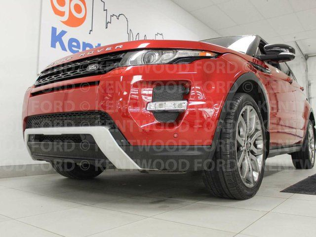 2013 LAND ROVER RANGE ROVER EVOQUE Range Rover Evoque, red heated power leather seats, sunroof, back up cam, power liftgate in Edmonton, Alberta