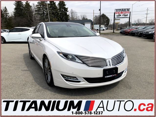 2014 LINCOLN MKZ AWD+GPS+Camera+Pano Roof+Vented Leather+Blind & La in London, Ontario