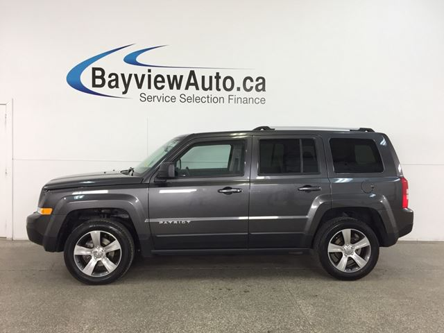 2017 JEEP PATRIOT Sport/North - 4x4! ALLOYS! SUNROOF! HTD LEATHER! U-CONNECT! in Belleville, Ontario