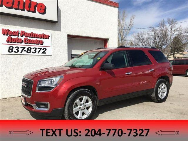 2013 GMC ACADIA SLE2 LOCAL, CLEAN CARPROOF in Winnipeg, Manitoba