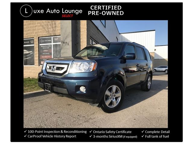 2011 Honda Pilot EX-L ONLY 83,000KM! 4WD, LEATHER, SUNROOF, BACK-UP CAMERA, HEATED SEATS & LUXE CERTIFIED PRE-OWNED! in Orleans, Ontario