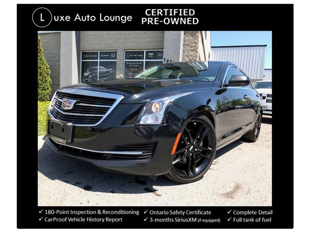 2015 Cadillac ATS TURBO! RARE 6-SPEED MANUAL! 19 INCH GLOSS BLACK WHEELS, CUE WITH BOSE SURROUND SOUND, SUNROOF, LUXE CERTIFIED PRE-OWNED! in Orleans, Ontario