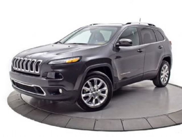 2016 JEEP CHEROKEE LIMITED AWD Sunroof/leather/NAv in Mississauga, Ontario