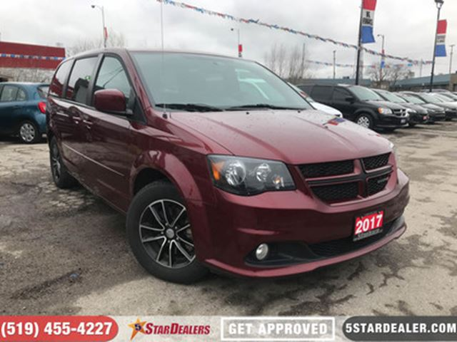 2017 DODGE GRAND CARAVAN GT   ONE OWNER   LEATHER   CAM   HEATED SEATS in London, Ontario