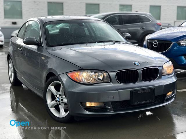 2009 BMW 1 SERIES 128i Cpe A/T Local Bluetooth AUX Leather Sunroo in Port Moody, British Columbia