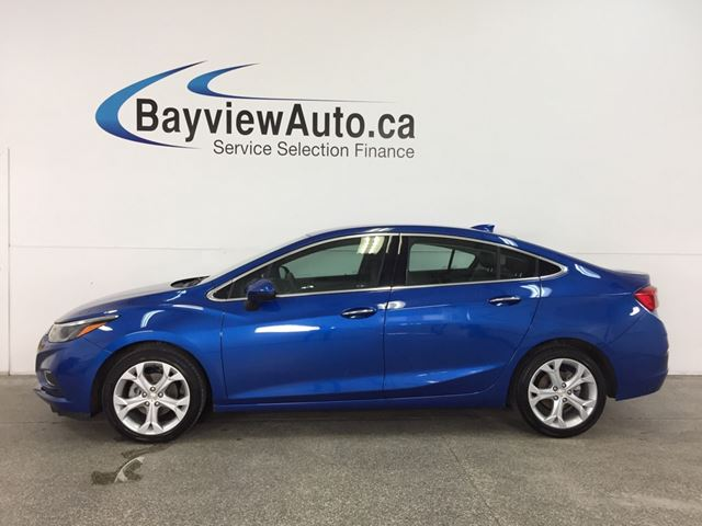 2018 CHEVROLET CRUZE Premier Auto - TURBO! REM START! HTD LTHR! MY LINK! REV CAM! WIFI! in Belleville, Ontario