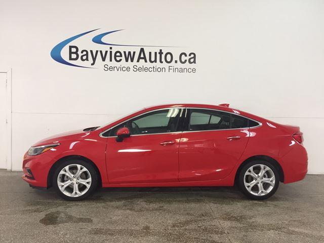2018 CHEVROLET CRUZE Premier Auto - TURBO! REM START! PUSH BTN START! HTD LTHR! REV CAM! WIFI! in Belleville, Ontario