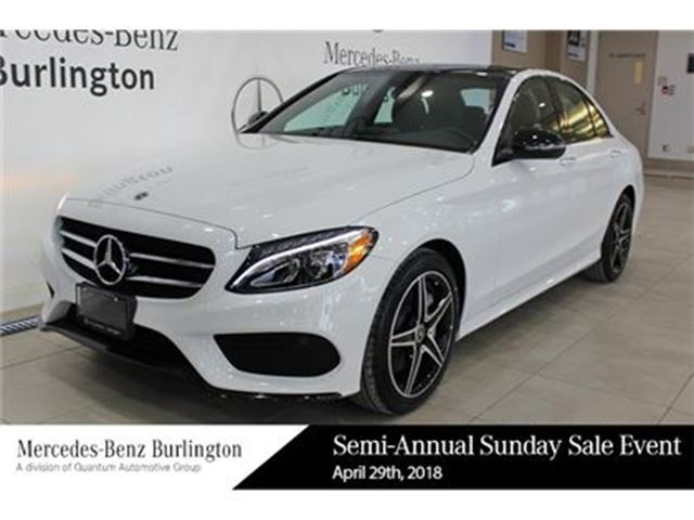 2018 MERCEDES-BENZ C-CLASS C300 4matic Sedan in Burlington, Ontario
