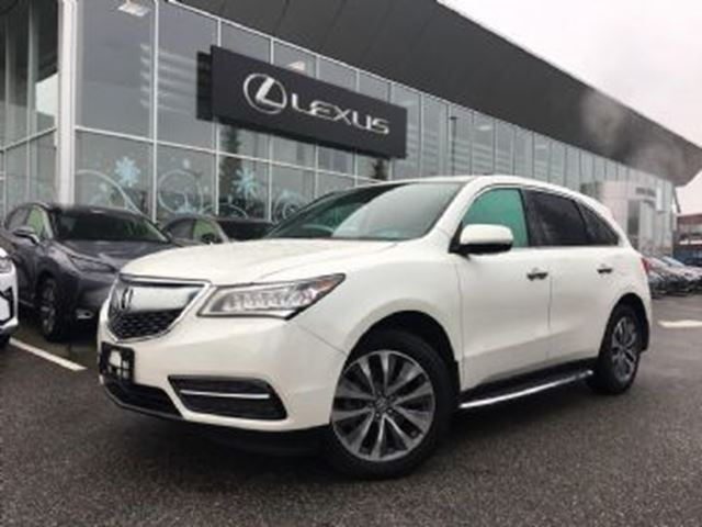 2016 ACURA MDX Navi, AWD, 7 Passenger,  Excess Wear Protection in Mississauga, Ontario