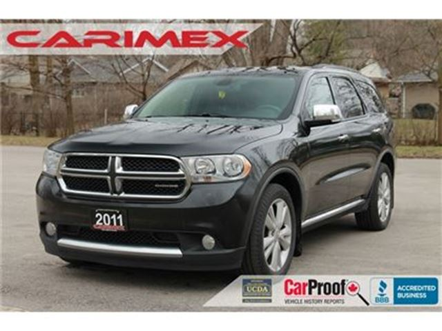 2011 DODGE DURANGO Crew Plus 7 Passenger   NAVI   Back-Up Camera   CE in Kitchener, Ontario