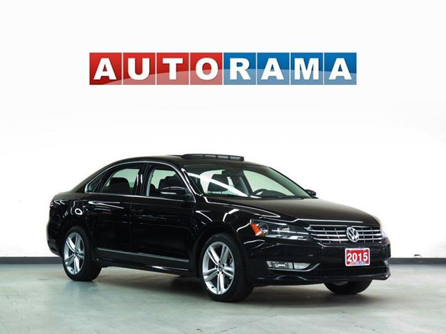 2015 Volkswagen Passat HIGHLINE NAVIGATION LEATHER SUNROOF ALLOYS in North York, Ontario