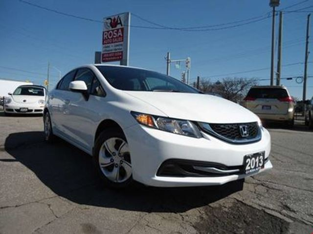 2013 Honda Civic AUTO 4 DR  LOW KM BLUETOOTH new tires A/C PW PL PM in Oakville, Ontario