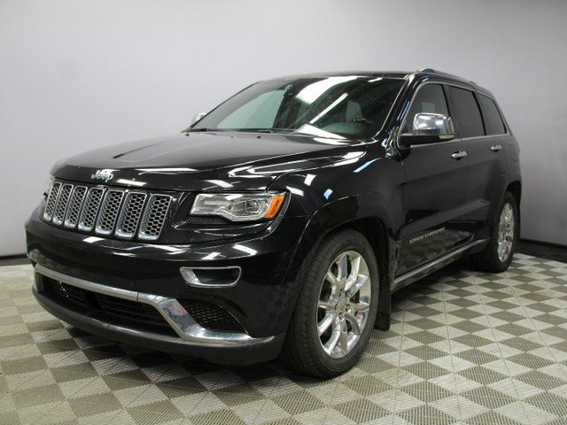 2015 JEEP Grand Cherokee Summit 5.7L HEMI - Local One Owner Trade In | No Accidents | Navigation | Back Up Camera | Parking Sensors | Dual Screen Rear DVD | Power Liftgate | Panoramic Sunroof | Remote Starter | Adaptive Cruise Control | Forward Collision Warning | Adjustable in Edmonton, Alberta