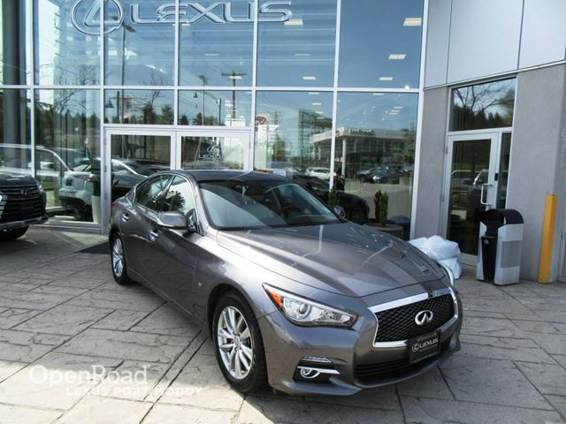 2014 INFINITI Q50 A/T Local One Owner Bluetooth USB AUX Navi Rear in Port Moody, British Columbia