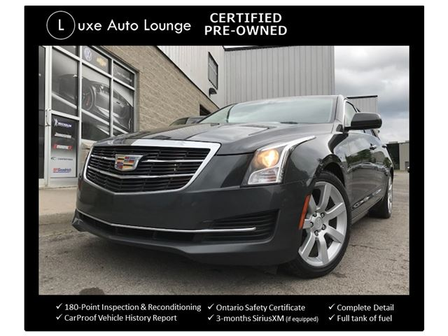 2015 CADILLAC ATS 2.5 4-CYL, AUTO, LEATHER, HEATED SEATS, BOSE AUDIO, SATELLITE RADIO, LOADED! LUXE CERTIFIED PRE-OWNED & BALANCE OF CADILLAC WARRANTY!! in Orleans, Ontario