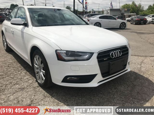 2014 AUDI A4 2.0 Komfort   LEATHER   ROOF   ONE OWNER in London, Ontario
