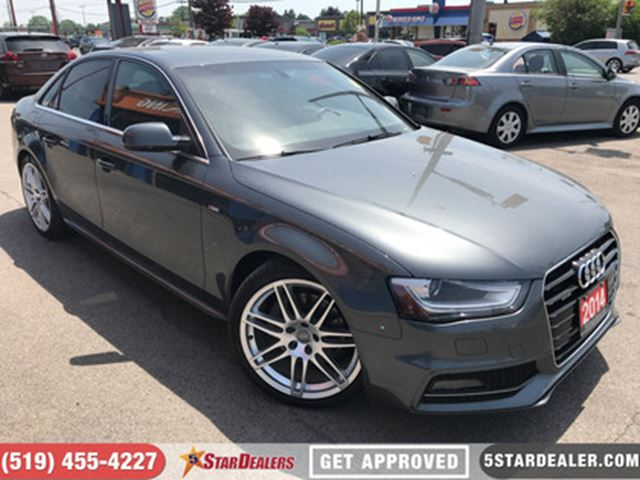 2014 AUDI A4 2.0 Progressiv S-Line   NAV   LEATHER   ROOF in London, Ontario