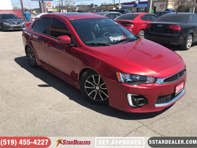 2016 MITSUBISHI LANCER SE LTD   ROOF   CAM   BLUETOOTH in London, Ontario