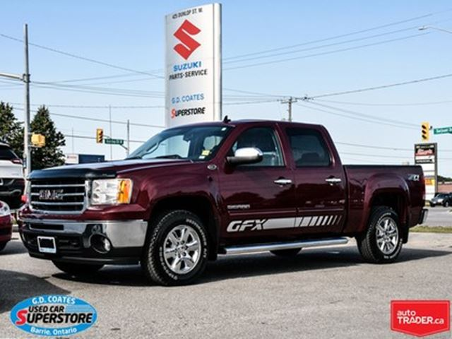 2013 GMC SIERRA 1500 SLE Z71 Crew Cab 4x4 ~GFX Package ~Leather in Barrie, Ontario