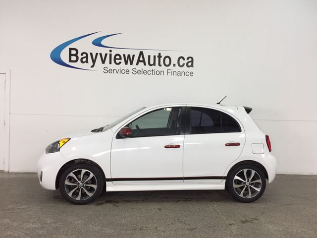 2015 NISSAN MICRA SR - ALLOYS! TINT! HEATED SEATS! A/C! REVERSE CAM! in Belleville, Ontario