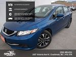 2015 Honda Civic EX $132 BI-WEEKLY in Cranbrook, British Columbia