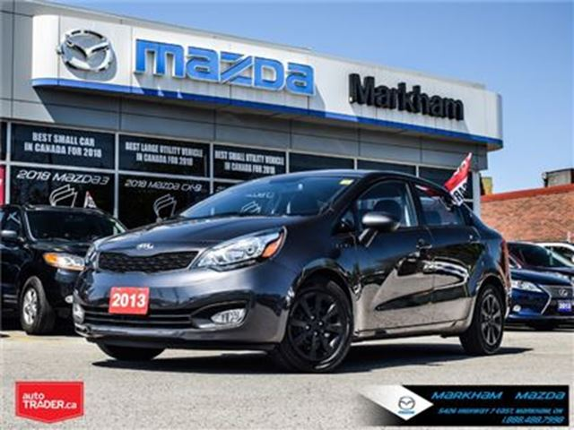 2013 KIA RIO 2013 KIA RIO ACCIDENT FREE SUPER LOW KM in Markham, Ontario