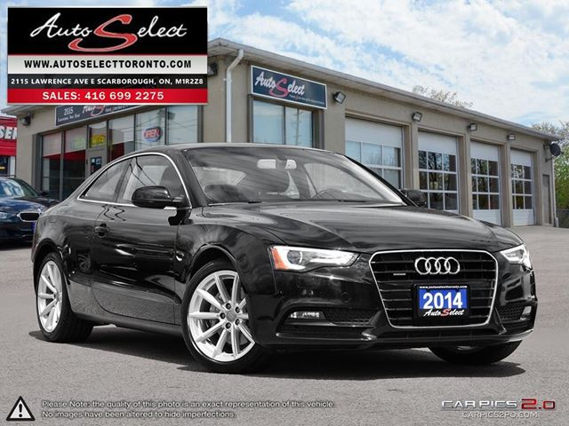 2014 AUDI A5 Quattro AWD ONLY 80K! **NAVIGATION PKG** CLEAN CARPROOF in Scarborough, Ontario