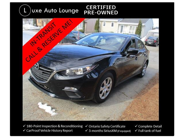 2015 Mazda MAZDA3 GX LOW KM!! 5-SPEED! A/C, POWER GROUP, BLUETOOTH, CERTIFIED PRE-OWNED! in Orleans, Ontario