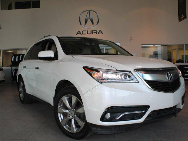 2016 ACURA MDX ELITE-DVD, Heated Leather Seats, Sunroof, B/U Cam, Nav in Red Deer, Alberta
