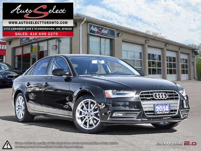 2014 AUDI A4 Quattro AWD ONLY 100K! **NAVIGATION PKG** CLEAN CARPROOF in Scarborough, Ontario