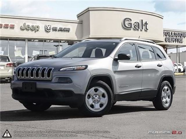 2016 JEEP CHEROKEE SPORT 4X4   BLUETOOTH ROOF RAILS BACK UP CAM in Cambridge, Ontario